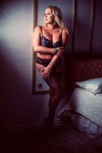 black lace, lingerie, stilettos, glam boudoir